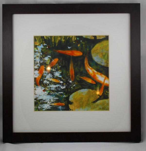 Koi ii framed art print ebth for Koi prints for sale