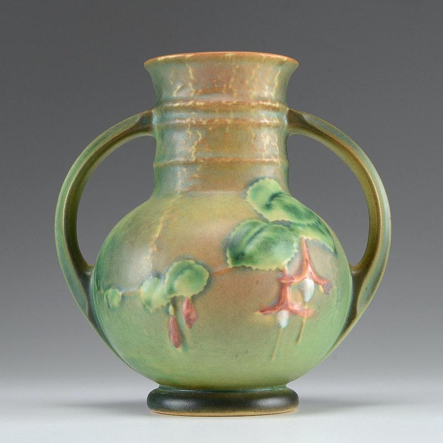 Roseville Fuschia Vase Ebth