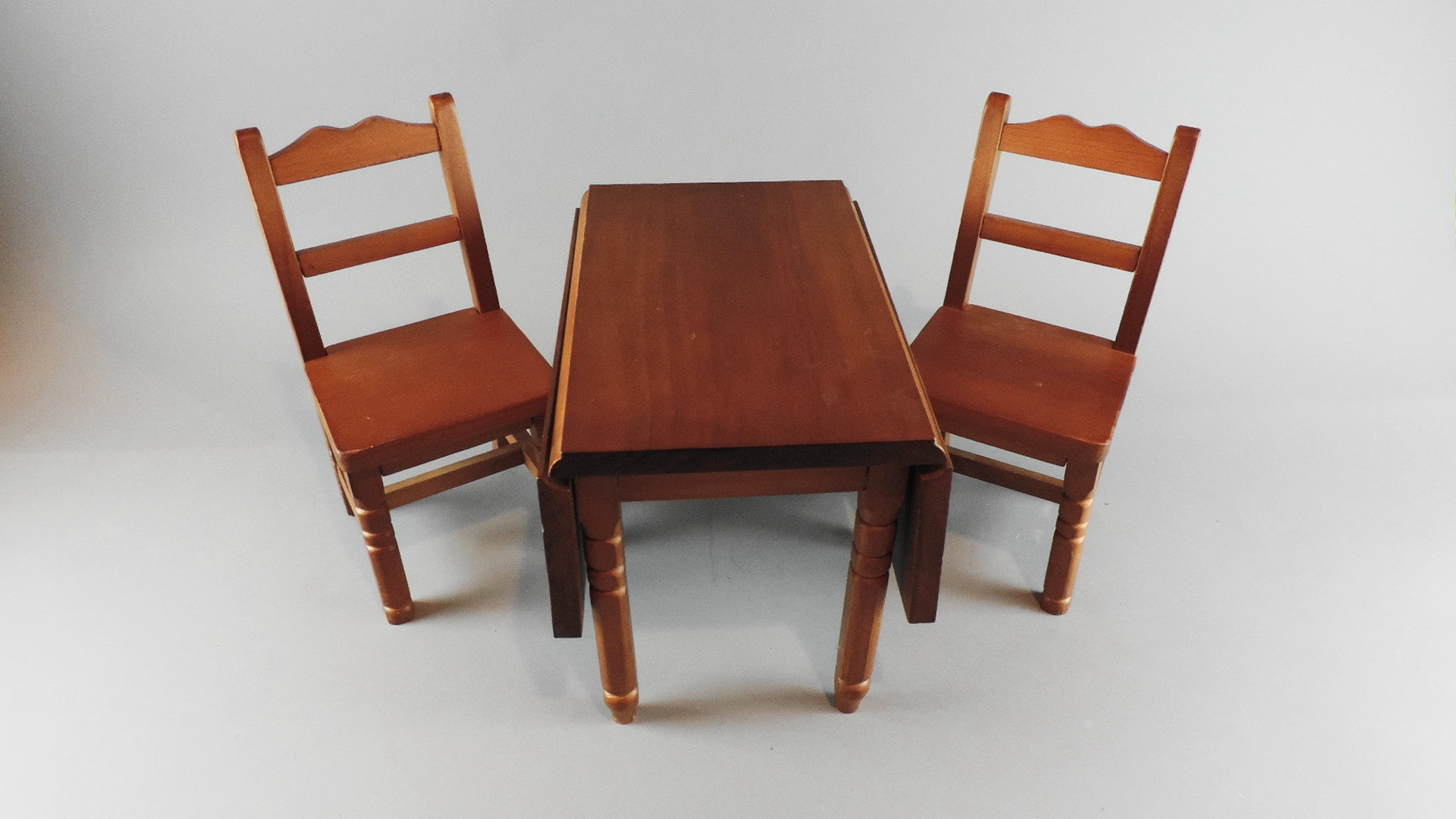 American Girl Doll Drop Leaf Dining Table And Chairs Ebth