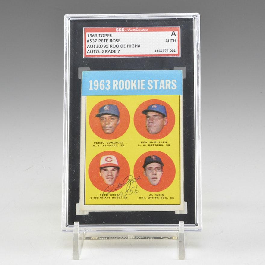Pete Rose Rookie Baseball Card