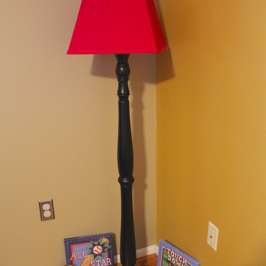 Pottery barn kids floor lamp and sports themed wall art ebth pottery barn kids floor lamp and sports themed wall art aloadofball Image collections