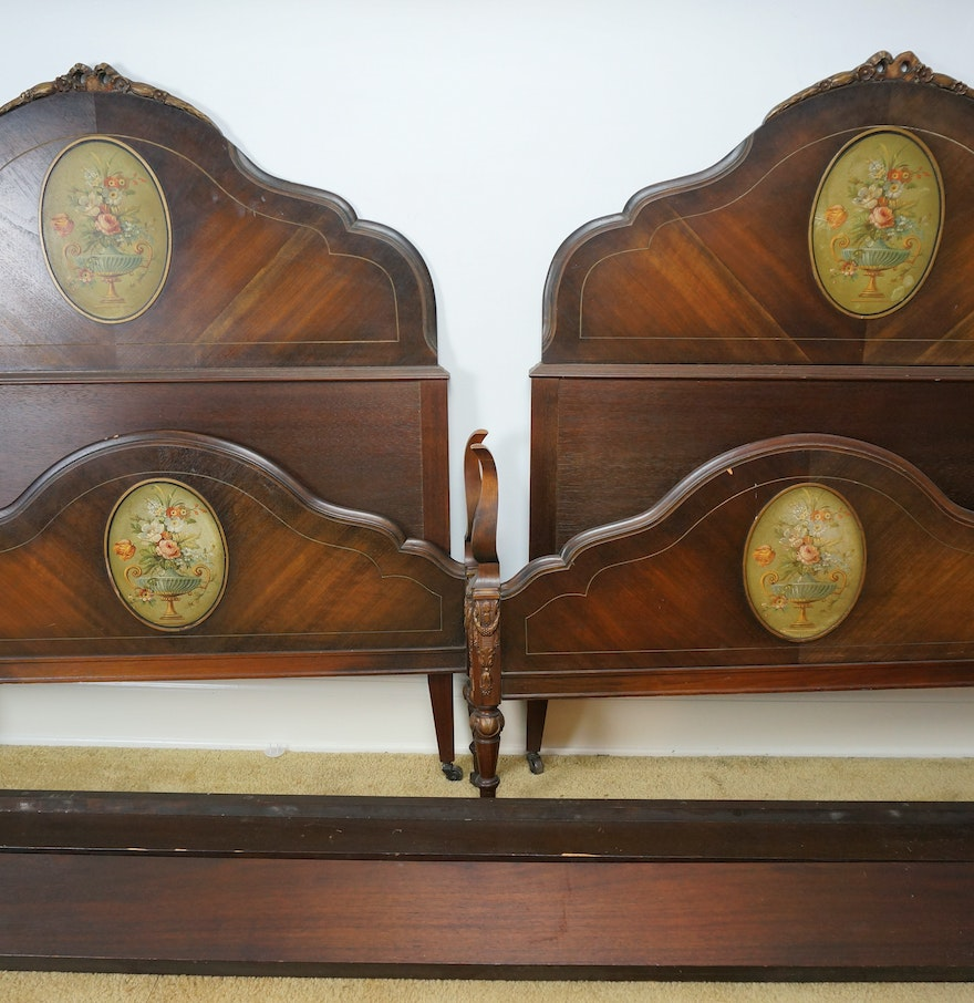 pair of antique twin bed frames - Antique Twin Bed Frame