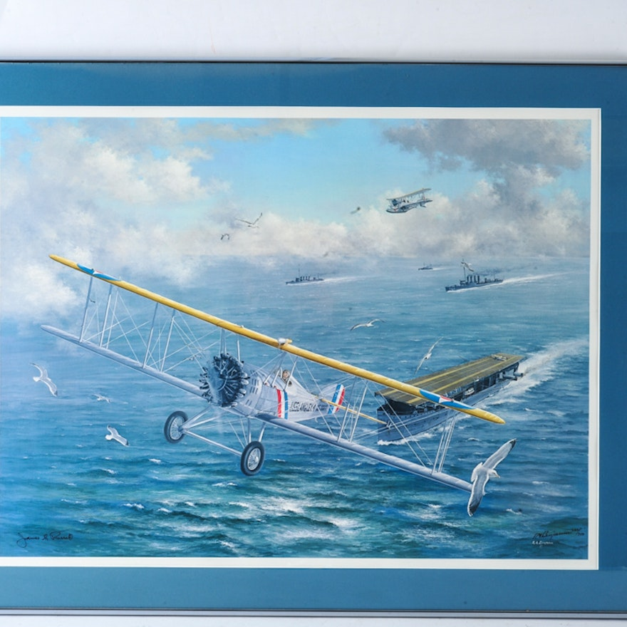 Limited Edition Print of the U S S  Langley