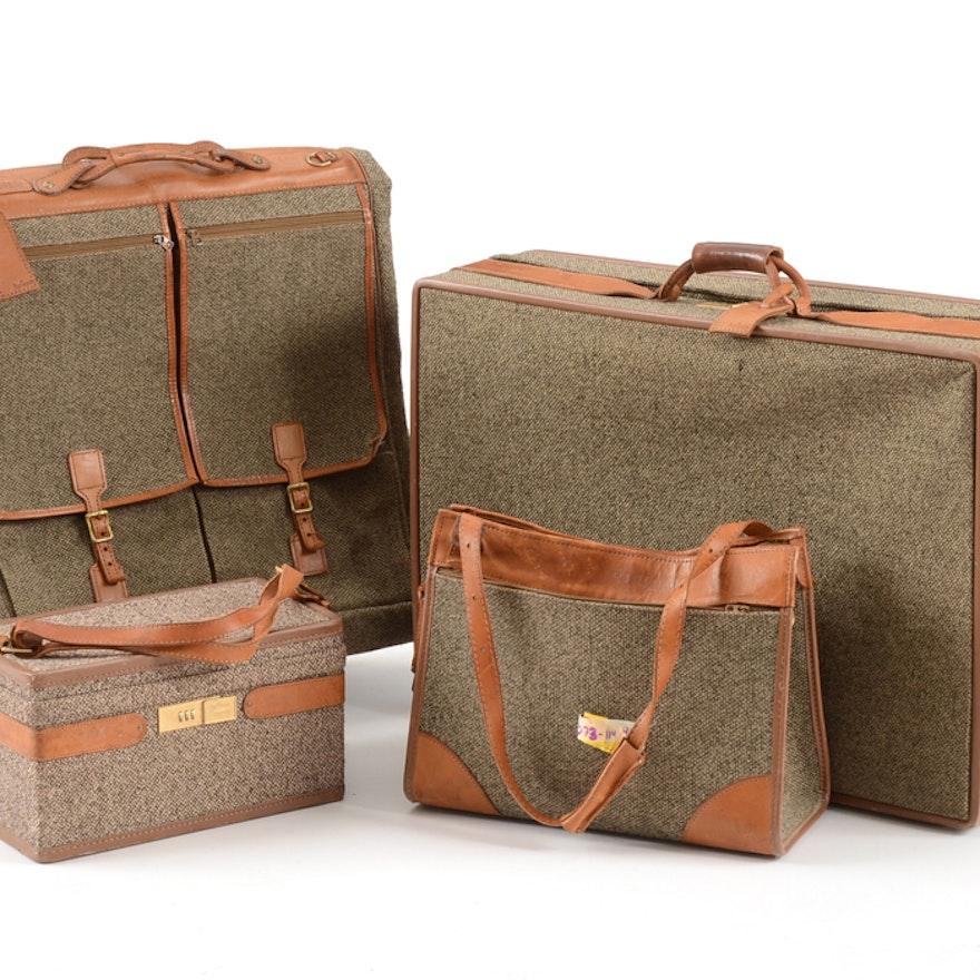 474833b09942 Vintage Hartmann Four Piece Tweed Soft Side Luggage Set   EBTH