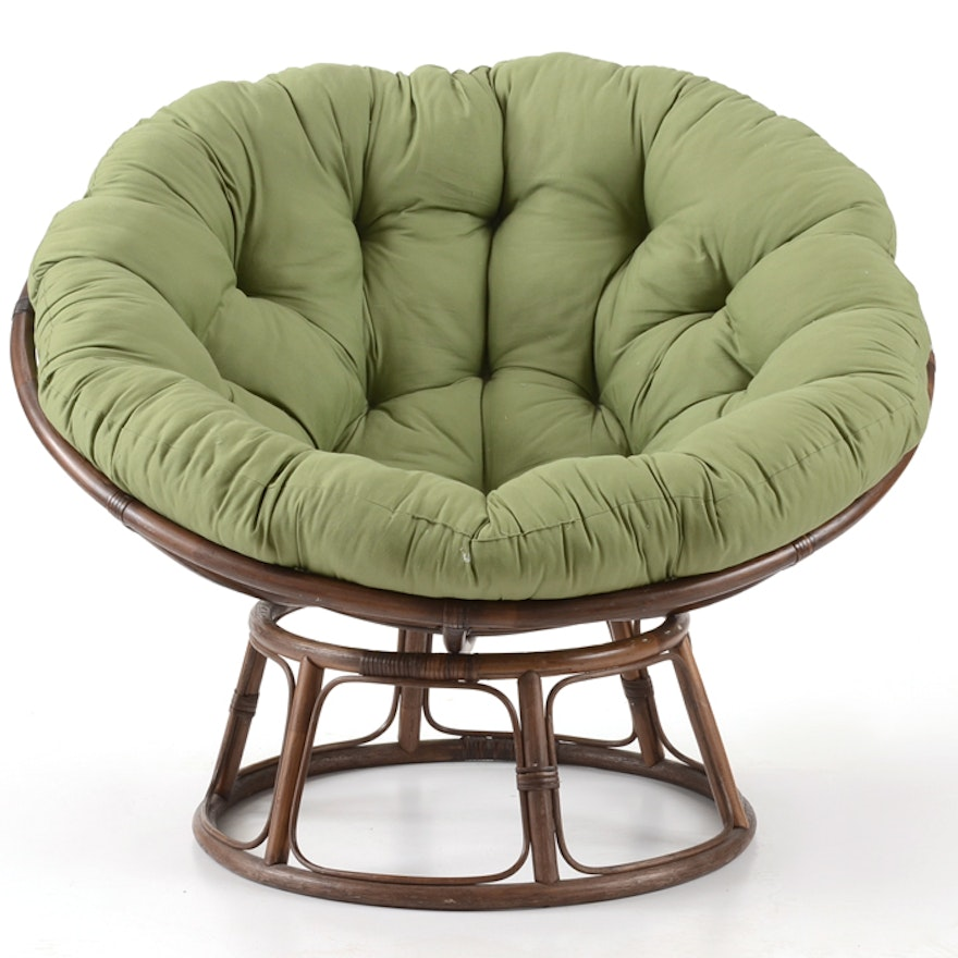 Pier 1 Imports Green Papasan Chair Ebth