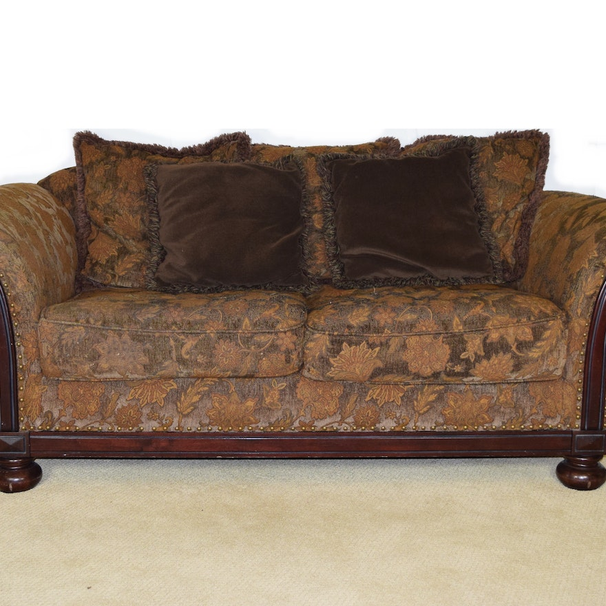 "Antique Tapestry Sofa: Bernhard ""New Vintage"" Sofa Upholstered In Tapestry Fabric"
