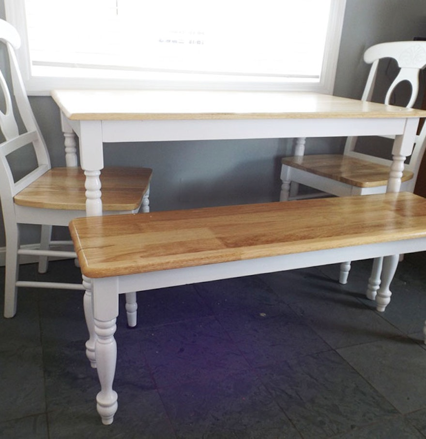 Kitchen Table With Bench And Chairs: Maple Kitchen Table With Chair And Bench : EBTH