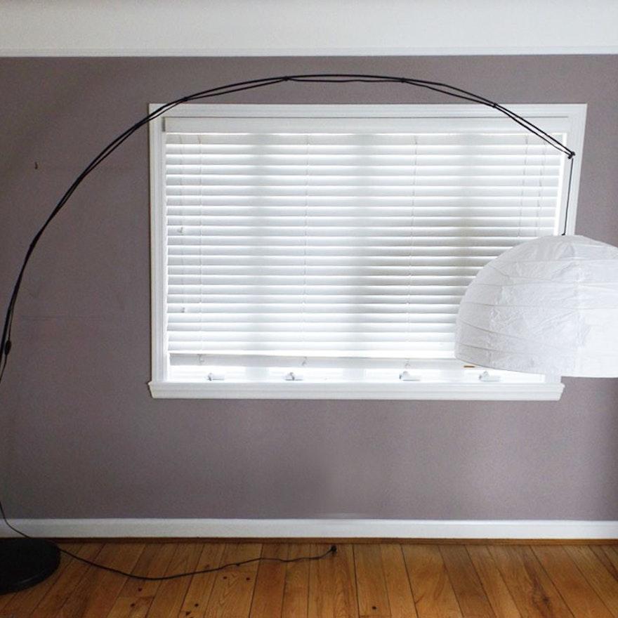 Ikea regolit arc floor lamp ebth for Arched floor lamp ikea