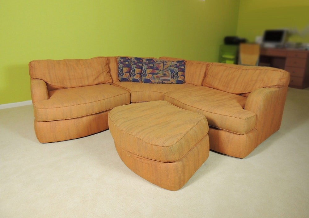 Orange Carter Sectional Sofa ... : carter sectional - Sectionals, Sofas & Couches