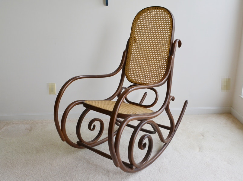 Delightful Reproduction Thonet Bentwood Rocking Chair ...