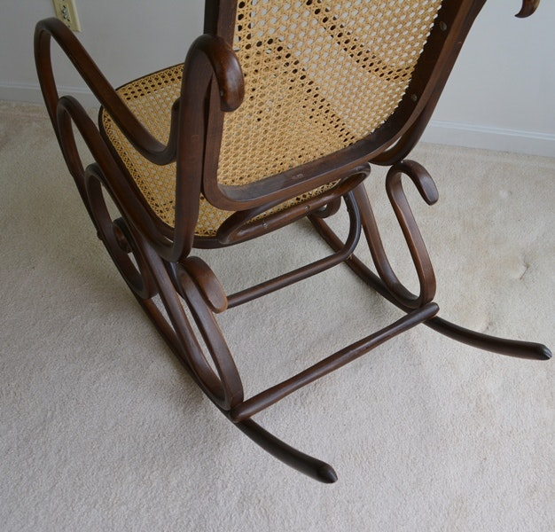 reproduction thonet bentwood rocking chair ebth