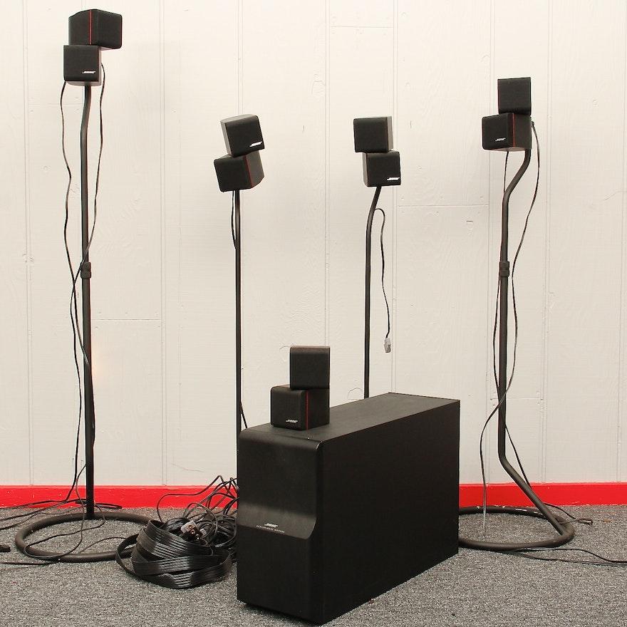 bose surround sound speakers and subwoofer ebth. Black Bedroom Furniture Sets. Home Design Ideas