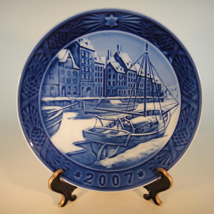2007 royal copenhagen christmas plate - Royal Copenhagen Christmas Plates