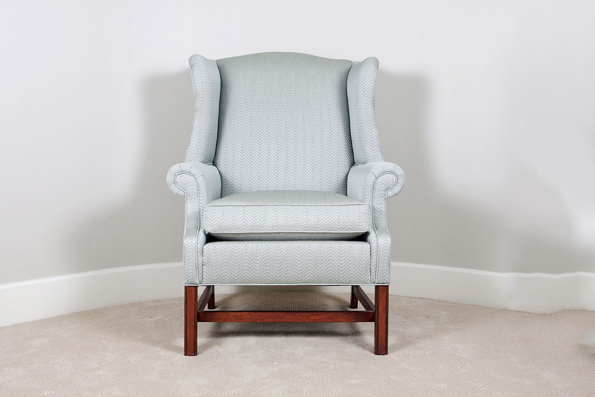 Ethan Allen Upholstered Wingback Chair ...