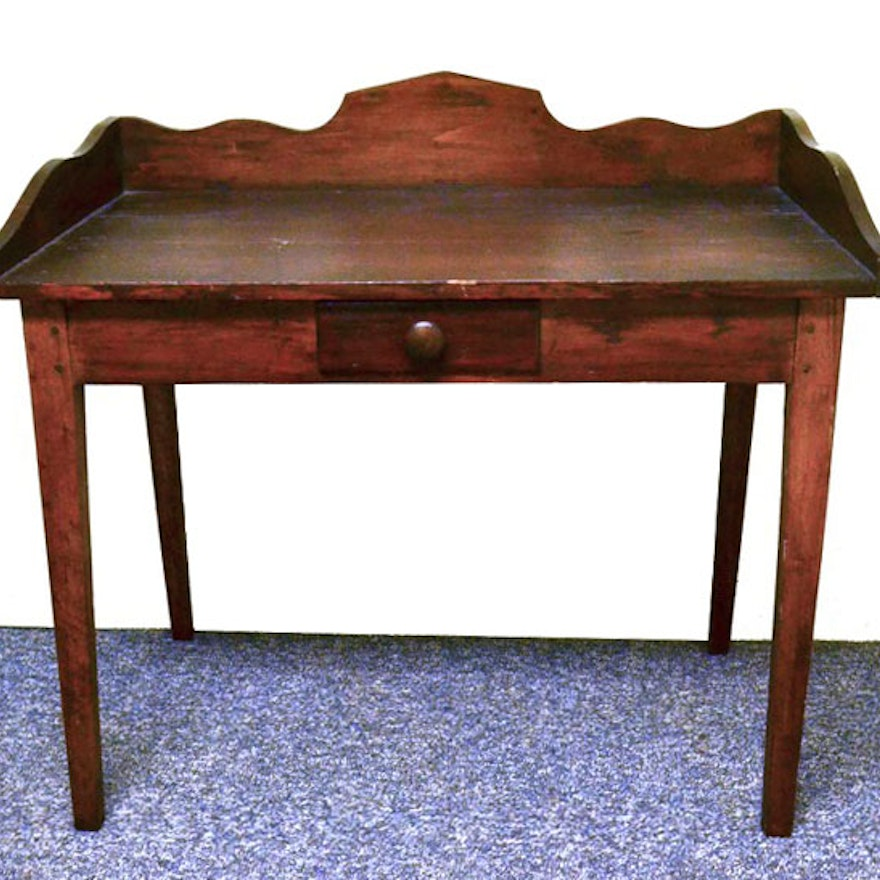 Antique Pine Desk ... - Antique Pine Desk : EBTH