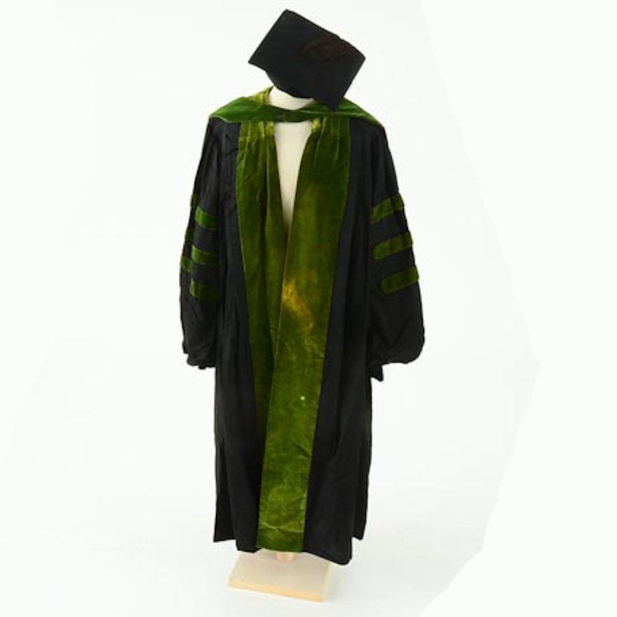 Vintage Graduation Gown, Sash and Mortarboard : EBTH