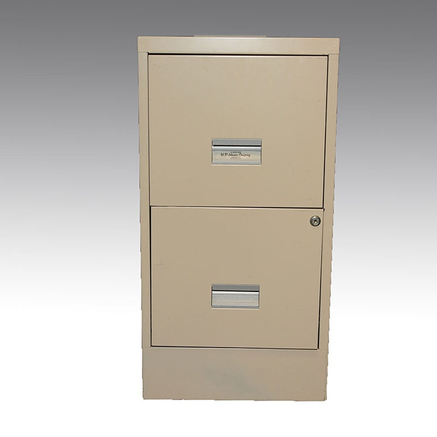 Wp Johnson 2 Drawer File Cabinet Ebth