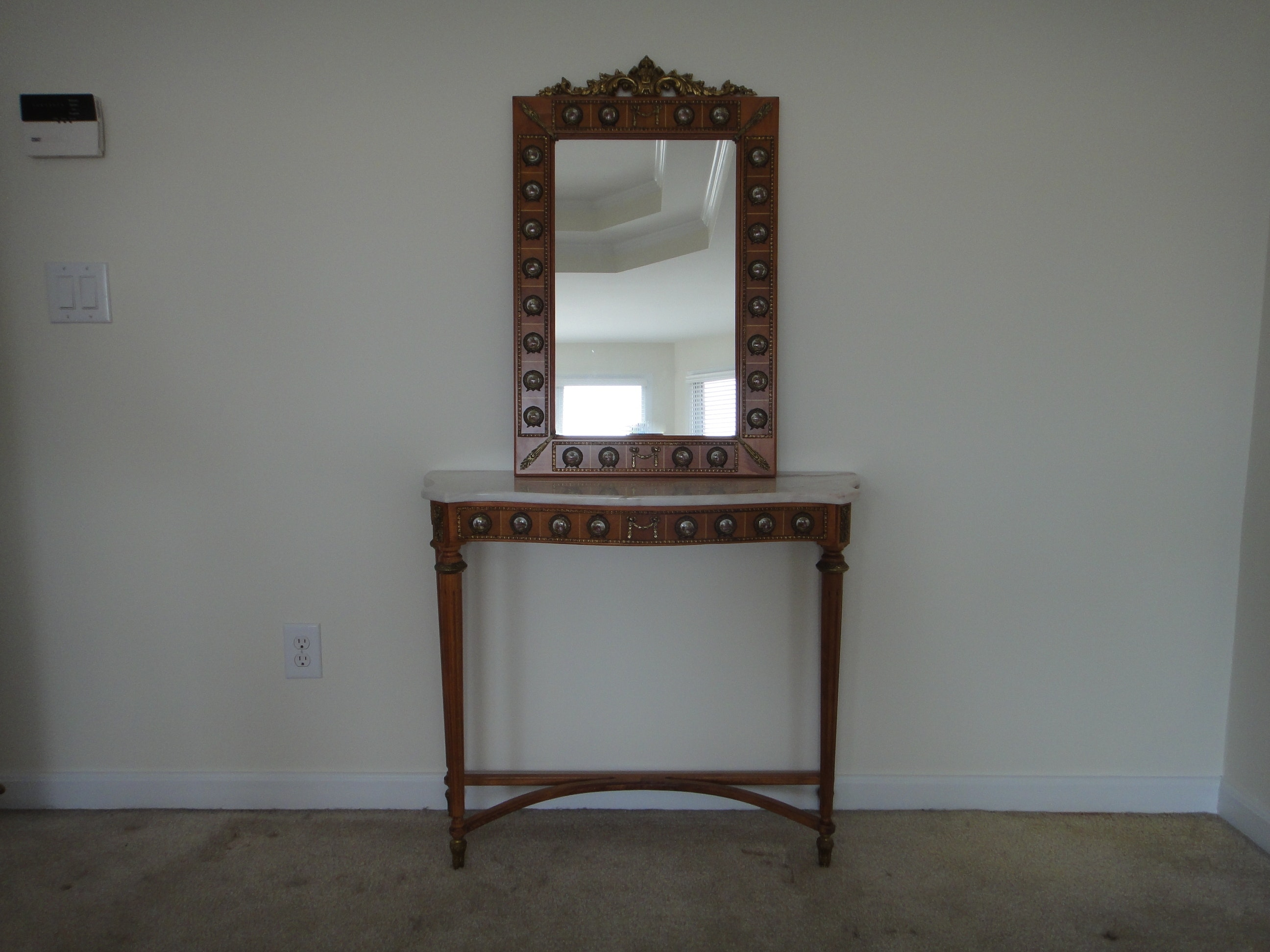 Stunning Antique Limoges Hall Table And Matching Mirror ...