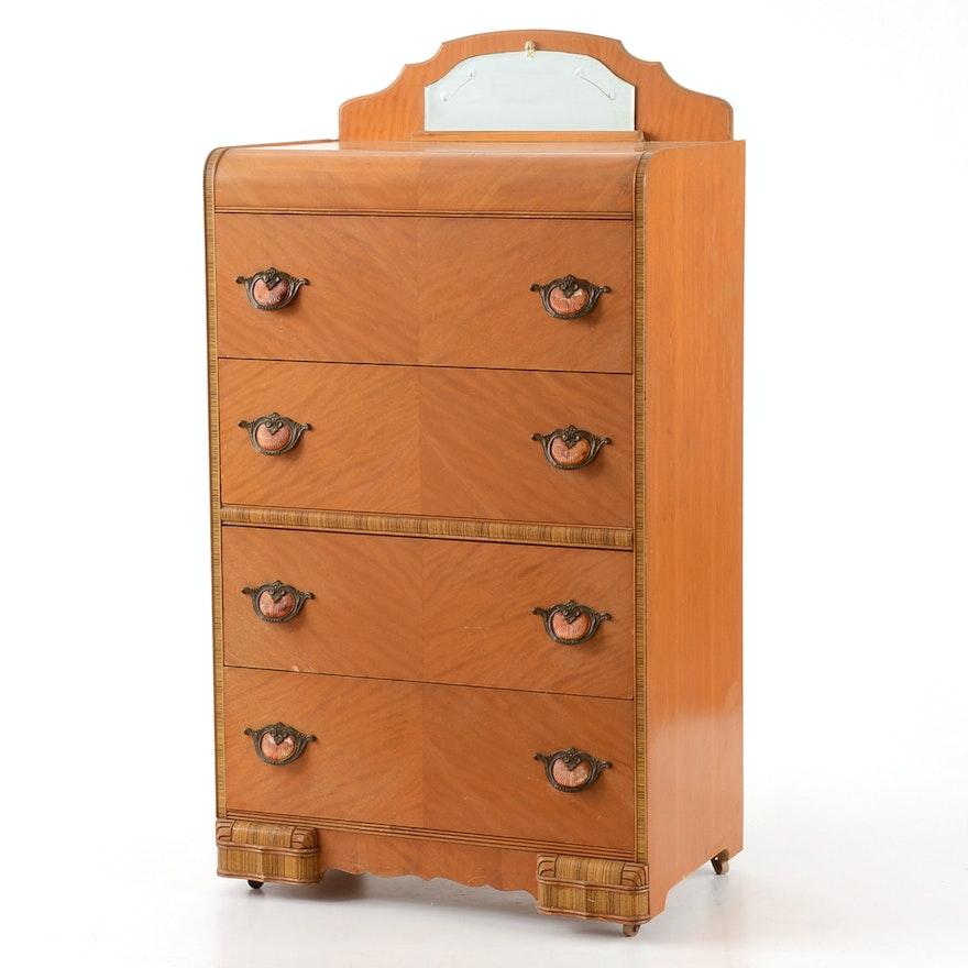 Webb Furniture Dresser With Mirror: Webb Furniture Company Waterfall Dresser