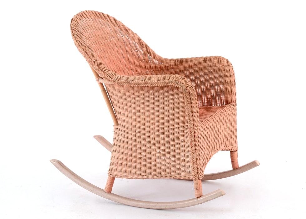 Vintage Wicker Rocking Chair ...