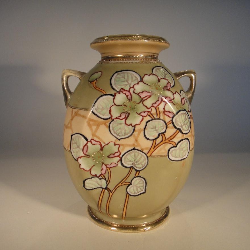 Gorgeous Antique Nippon Vase Ebth