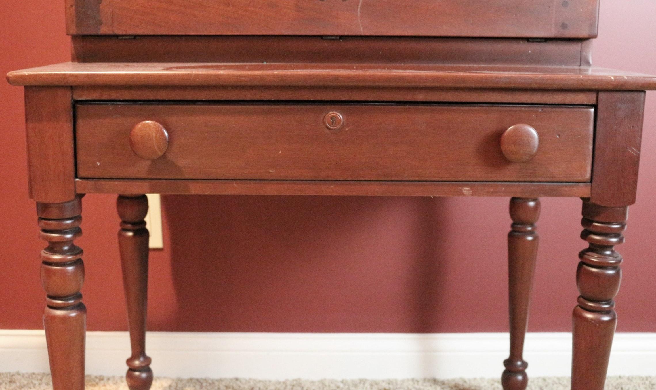 Lexington Slant Front Cherry Plantation Style Desk Ebth