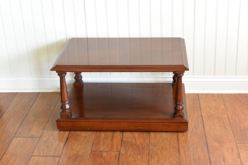 attractive ethan allen coffee table ebth