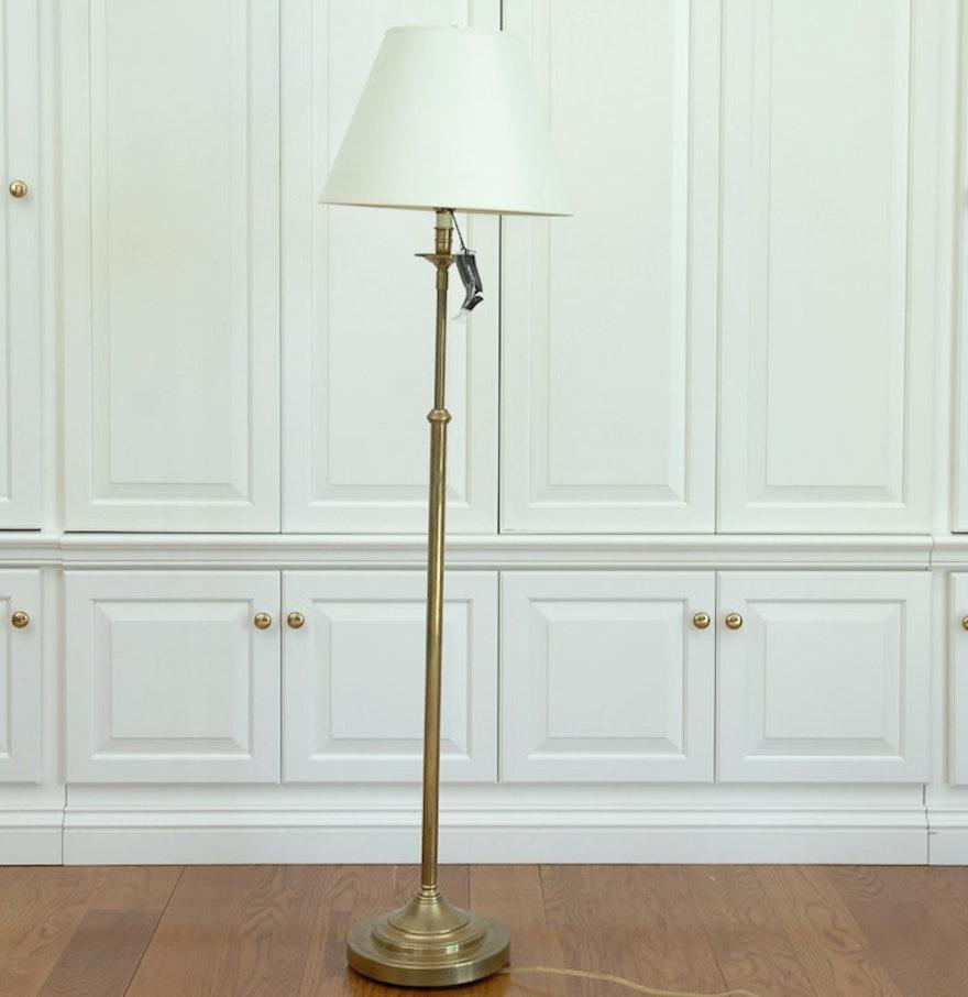 robert abbey inc brass floor lamp  ebth - robert abbey inc brass floor lamp