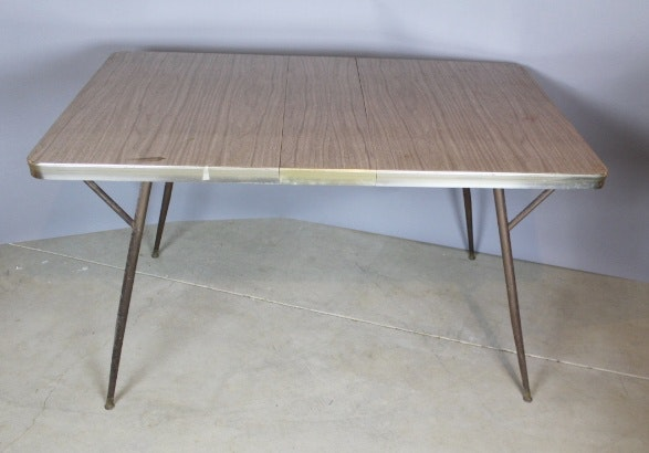 Mid Century Formica Top Dining Table ...