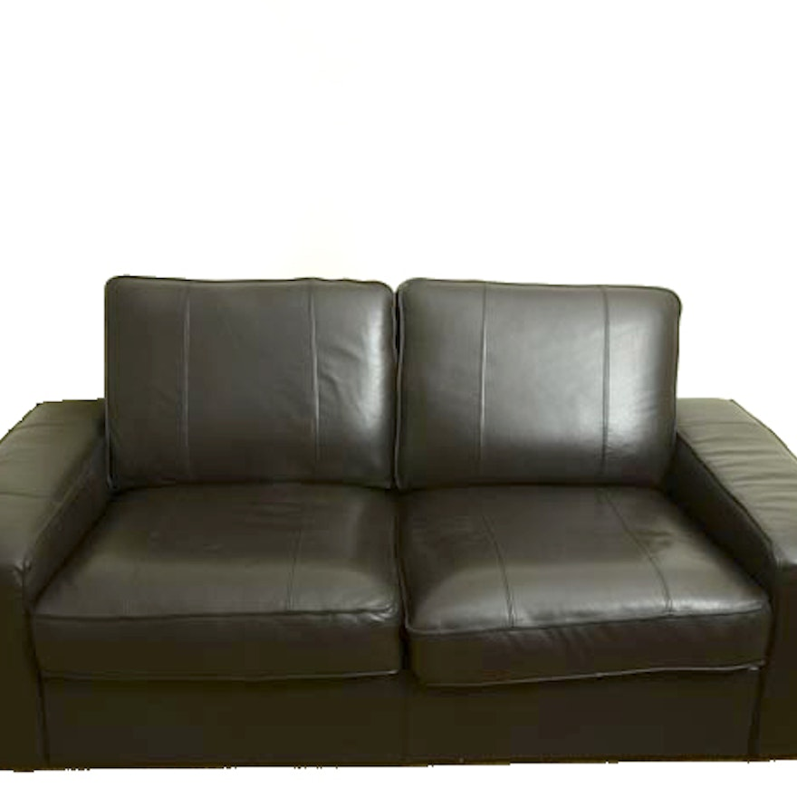 black leather kivik ikea sofa ebth. Black Bedroom Furniture Sets. Home Design Ideas