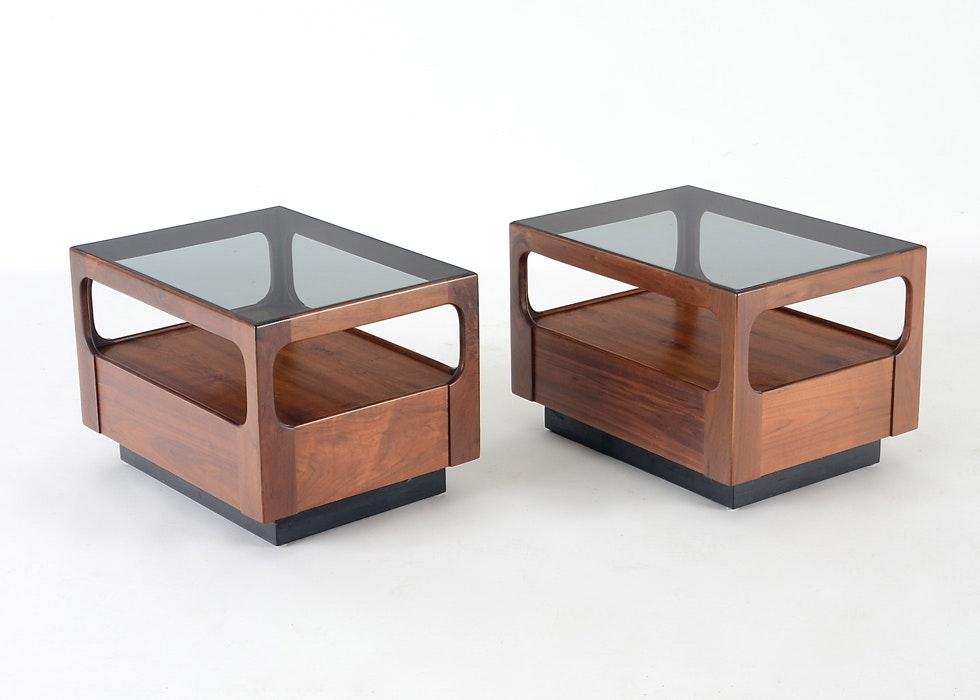 Charmant John Keal For Brown Saltman Danish Modern End Tables ...