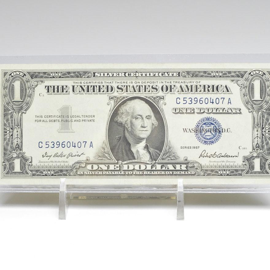 1957 One Dollar Silver Certificate : EBTH