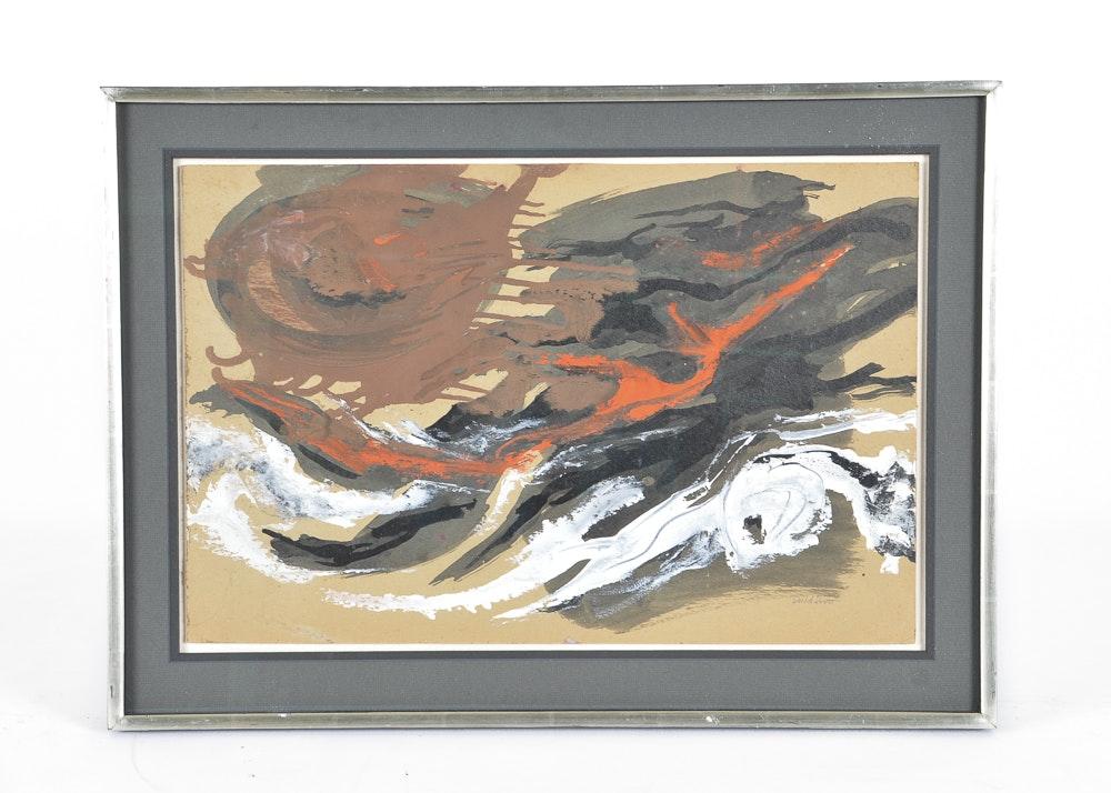 'Storm Fragments' David W. Scott Original Abstract Mixed Media