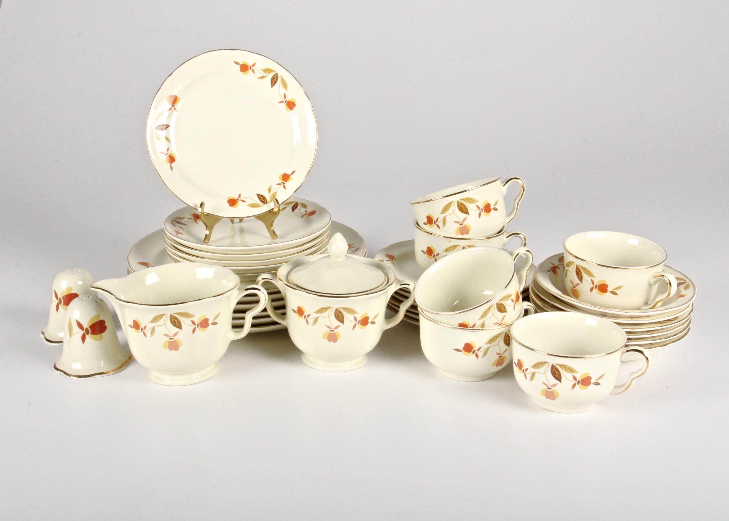 Vintage  Autumn Leaf  Complete Dinnerware Set ... & Vintage