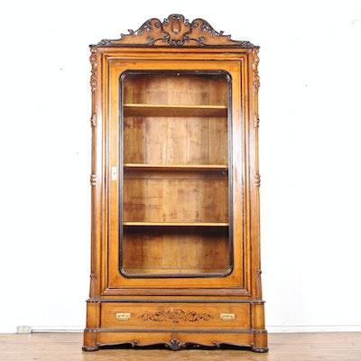 Single Door Mahogany Bookcase - Online Furniture Auctions Vintage Furniture Auction Antique