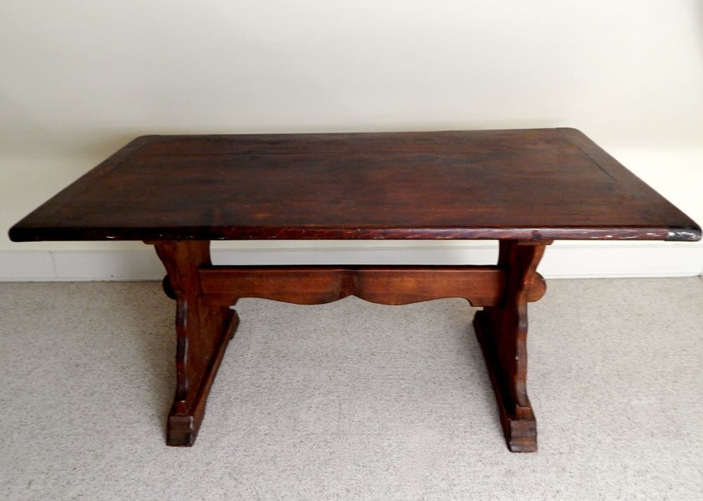 Antique Pine Trestle Table ...
