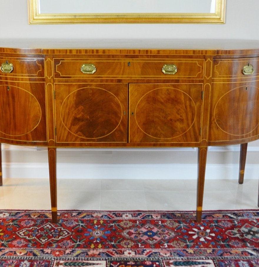 Circa 1790-1810 Hepplewhite Sideboard with Marquetry : EBTH