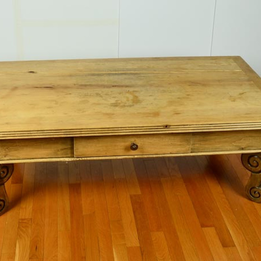 Rustic Knotty Pine Coffee Table