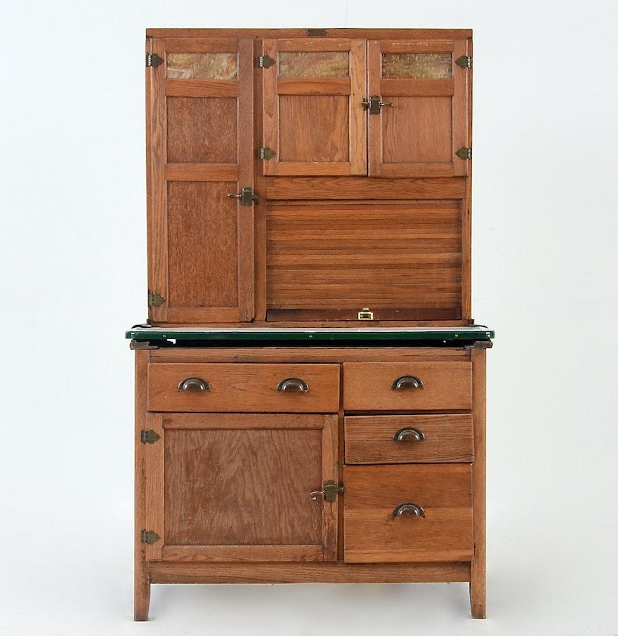Hoosier Kitchen Cabinet: Oak Hoosier Cabinet By Wilson Kitchen Cabinets : EBTH