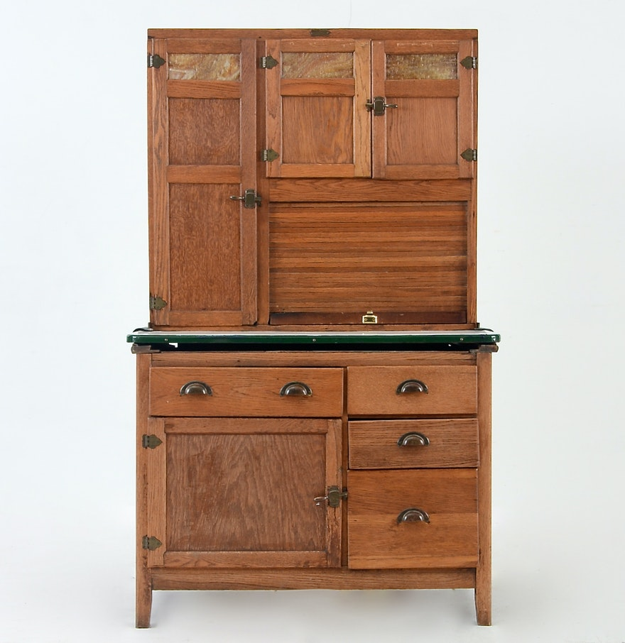 Hoosier Kitchen Cabinet: Oak Hoosier Cabinet By Wilson Kitchen Cabinets : EBTH