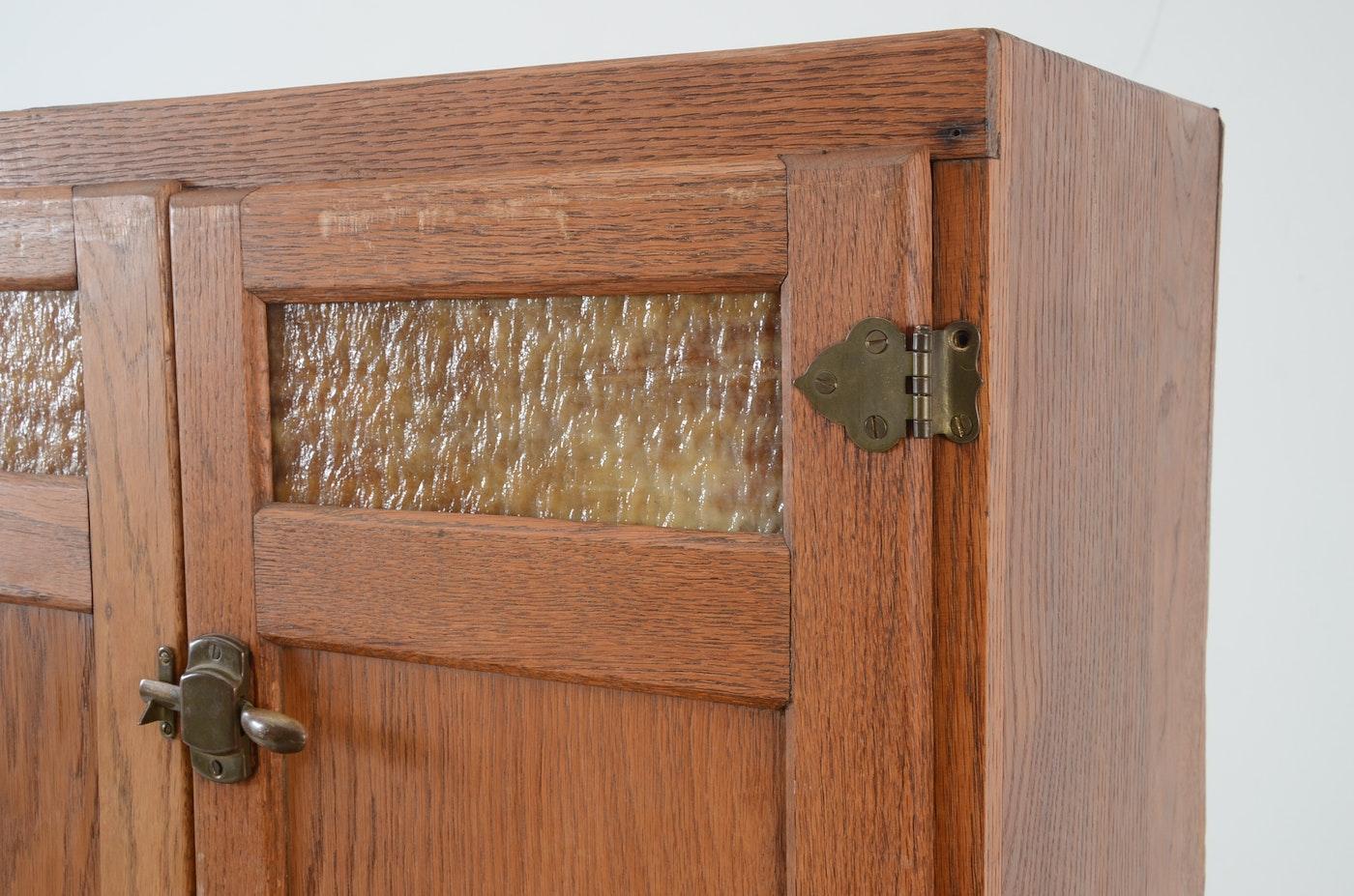 Oak Hoosier Cabinet By Wilson Kitchen Cabinets Ebth