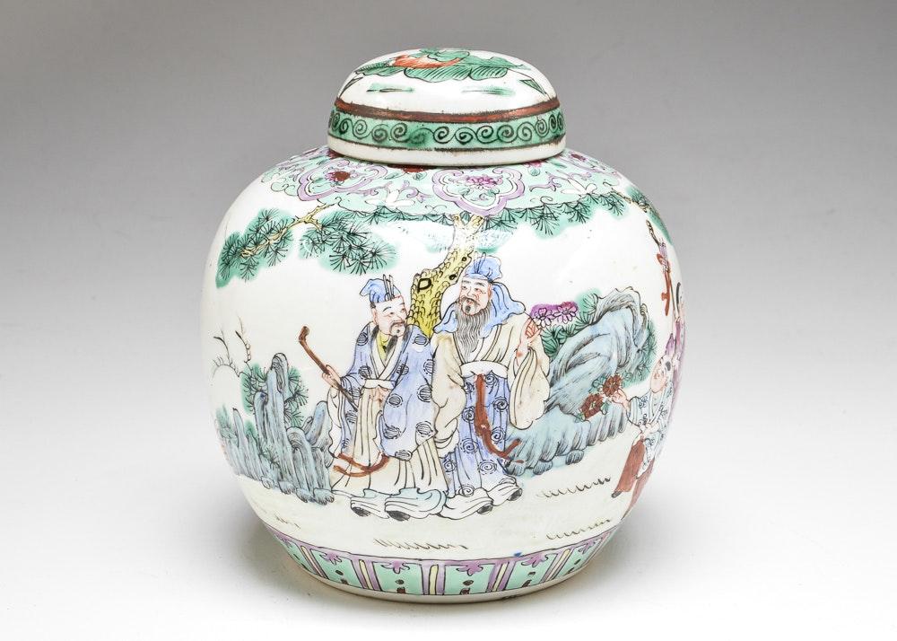 antique chinese ceramic ginger jar ebth