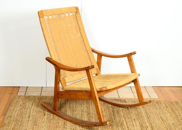 Marvelous Jute Rope Wegner Style Rocking Chair ...
