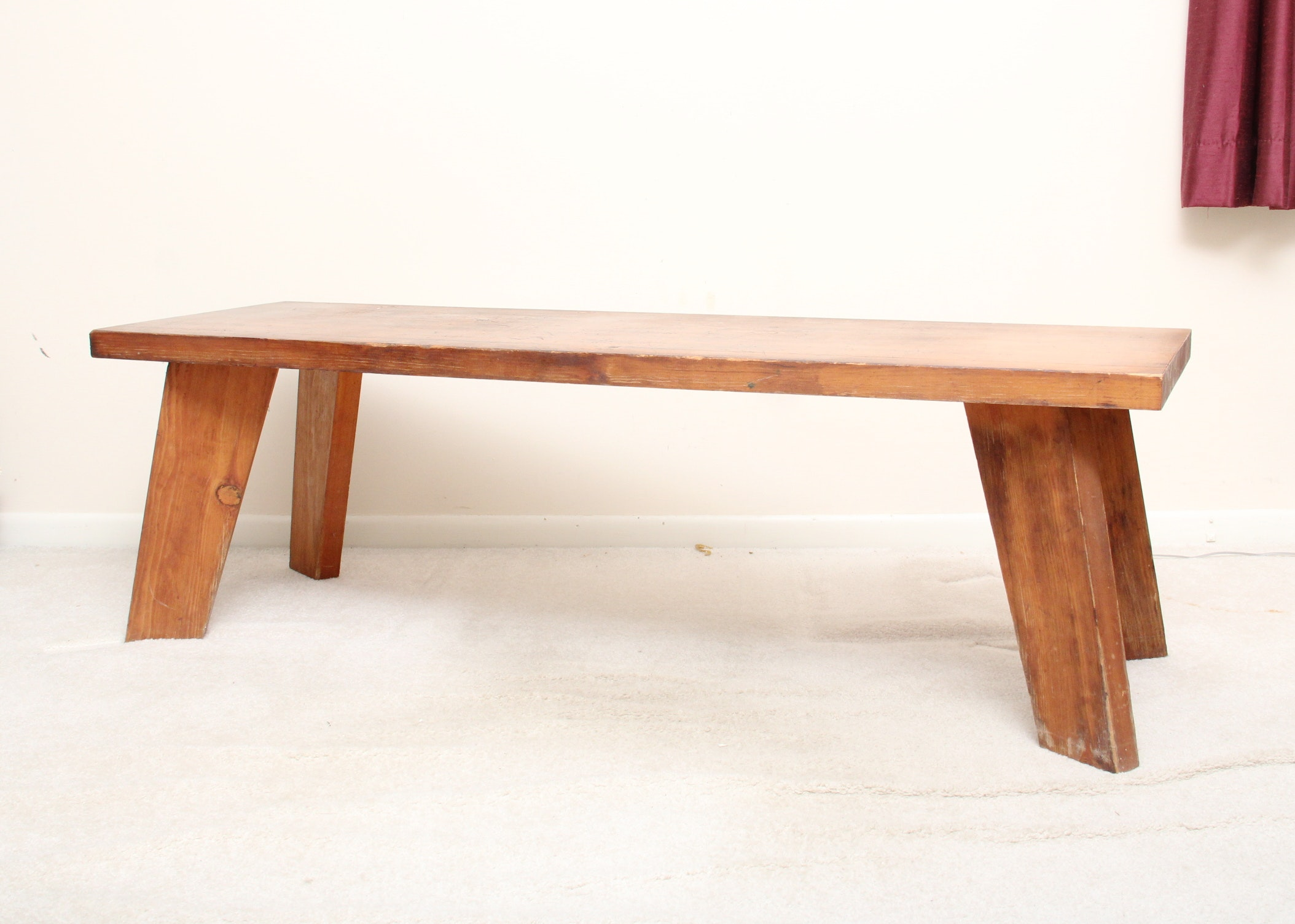 Low Bench Coffee Table With Splayed Legs ...