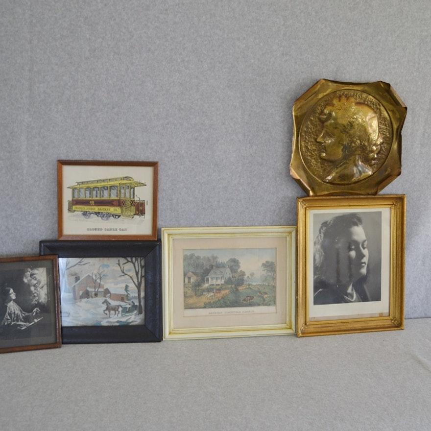 ef7038be6562 Vintage Art Prints Including Currier   Ives   EBTH