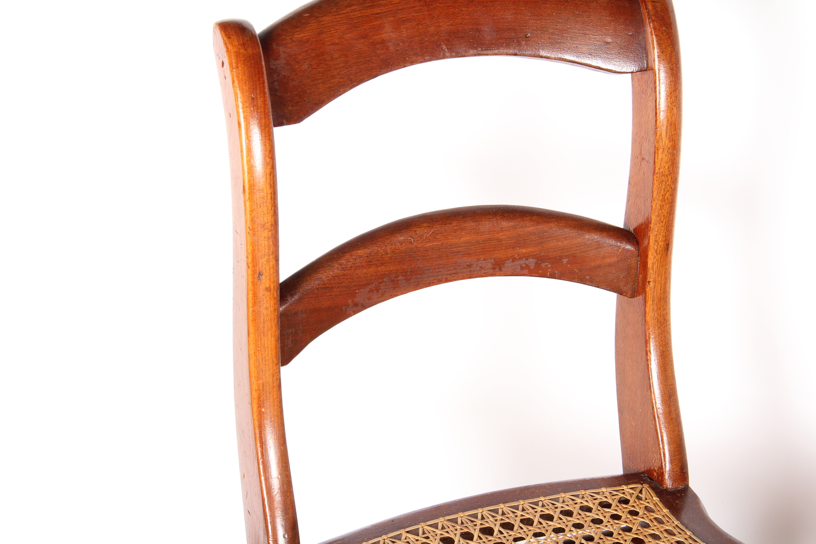 Pair of Woven Caned Chairs : EBTH