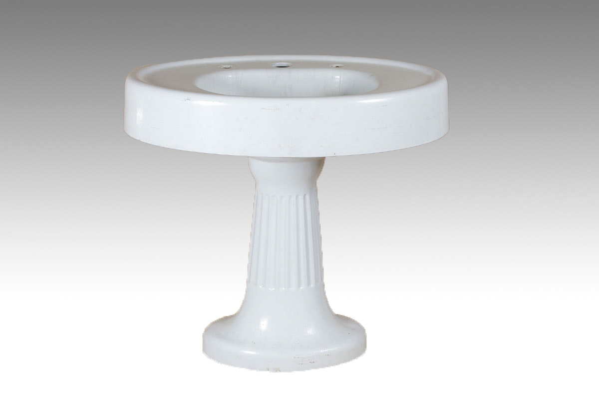 Antique Oval Cast Iron Pedestal Sink ...