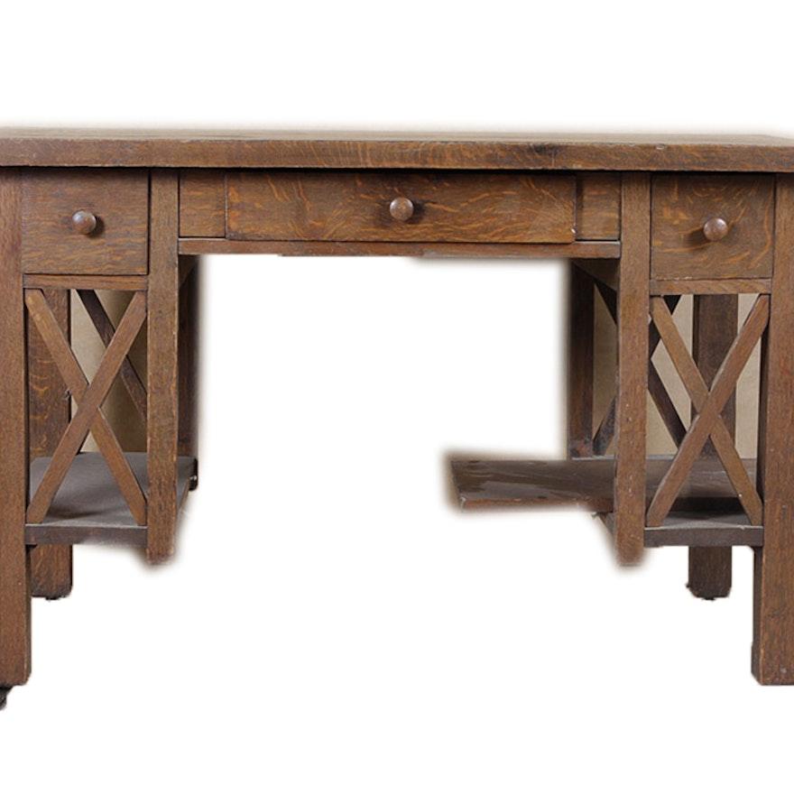 Bassett Furniture Louisville Ky: H. Franke Vintage Mission Style Library Desk