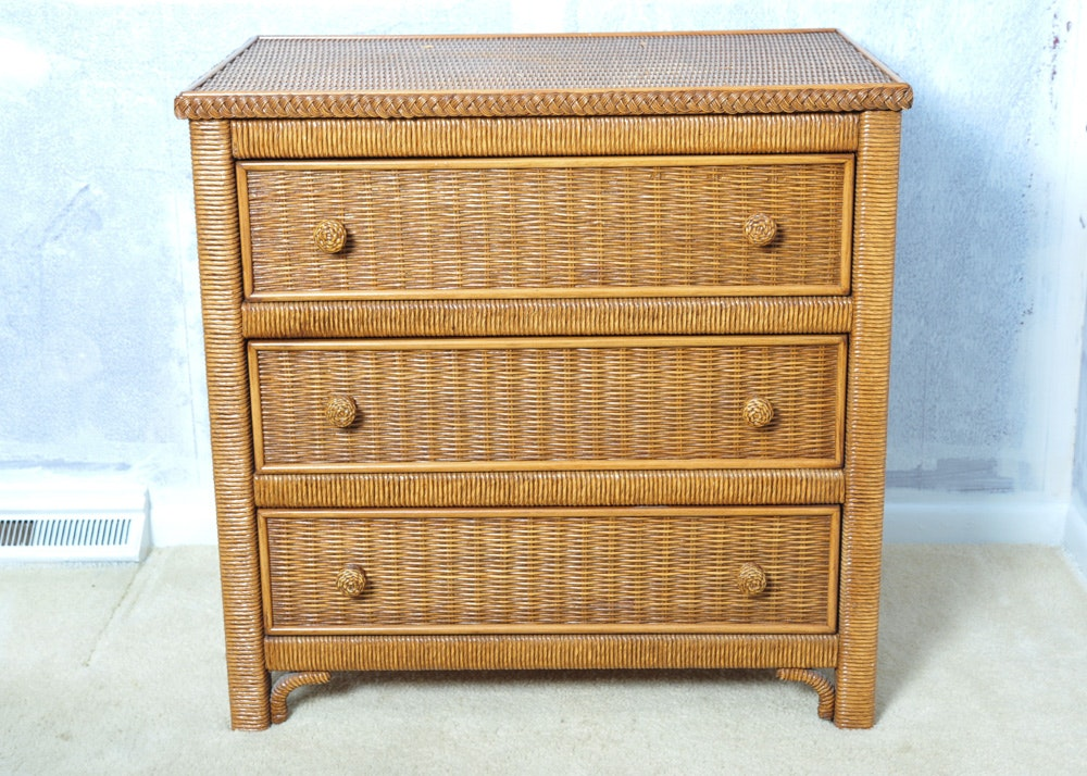 Lexington Henry Link Wicker Chest Of Drawers Ebth