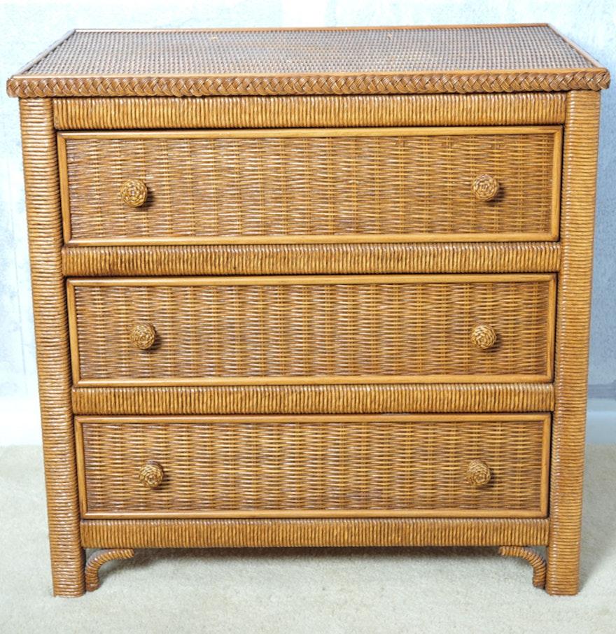 lexington henry link wicker chest of drawers ebth. Black Bedroom Furniture Sets. Home Design Ideas